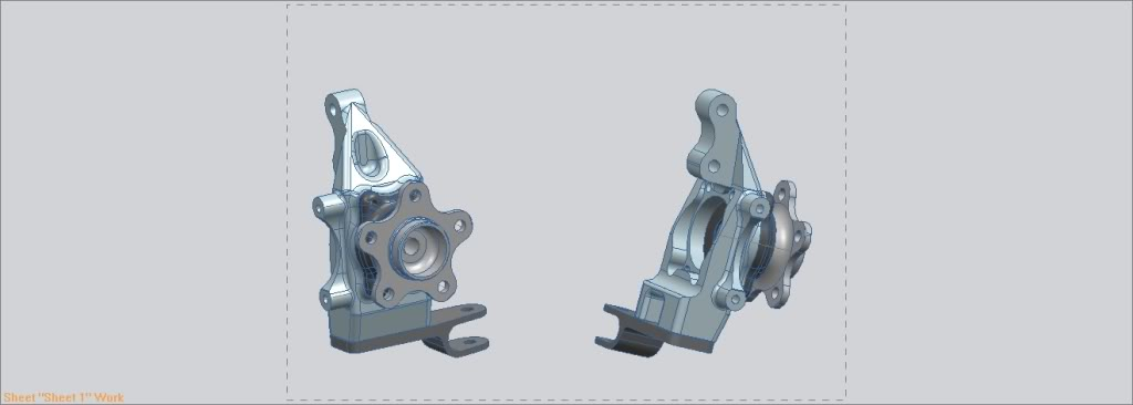 aluminiumfrontuprightNissanassambly